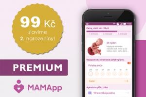 Slavíme druhé narozeniny - MAMApp PREMIUM jen za 99 Kč!